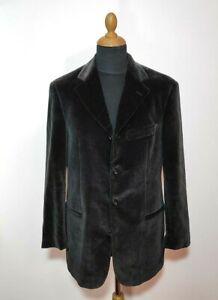 Hugo Boss Blazer Men Jacket Sz.38 Casual Cotton Velvet Sokrates Shiny Black