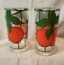 Vintage Tumbler Apples And Frosted