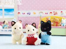 Sylvanian Families Calico Critters Tuxedo Cat Triplets