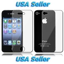 Clear Front + Back Screen Cover Shield Protector *FULL BODY* For iPhone 4 4G 4S