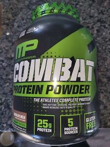 MP MusclePharm  Combat Protein Power 64ozs 4 Lbs~ Chocolate Milk EXP 4/21