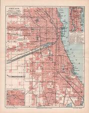 Antique map. North America. City Plan Of Chicago. c 1905