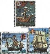 Paraguay 3924-3926 (edición completa) usado 1985 de barcos y marineros