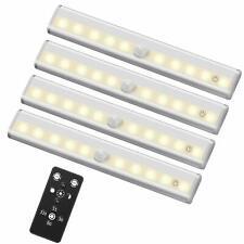 Remote Control Led Lights Under Cabinet Lighting Bar Wireless Portable Led 4pack