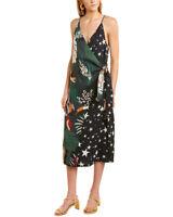 Farm Rio Tropical Stardust Wrap Dress Women's  Xs