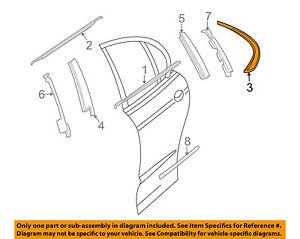 JAGUAR OEM 02-08 X-Type Exterior Qtr Window Molding Right Chrome C2S42274