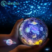 Christmas Gift For Kids Night Lamp Projector Sky Stars Planets Earth LED Bedroom