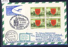 58413) LH FF München - Palermo Italien 17.5.92, Karte ab Jersey