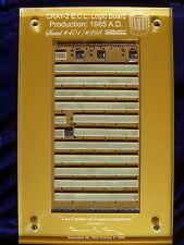 Cray-2 E.C.L. Odd-Semi-Blank Board  SuperComputer Module W/Certificate & Lucite