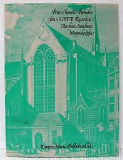 SATB Recorder FIVE CHORALE PRELUDES Sheet Music Book BACH & PACHELBEL Classical