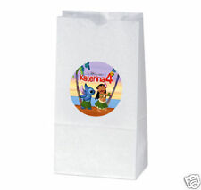 12 Lilo and Stitch Birthday Party Favor Personalized Treat Bag Stickers