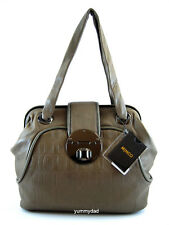 MIMCO ANTOINETTE LEATHER SHOULDER DAY BAG IN FUDGE BNWT RRP$499