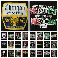 Fashion Graphic T-Shirt Mexico Funny Casual Spanish Print Hipster Men Crew Neck