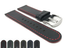 Bandini Leather Watch Band, Racer Strap, Thin, 6 Colors, 20mm 22mm 24mm 26mm