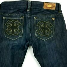 Guess Premium womens jean sze 26 actual 28x32 blue daredevil Made In USA