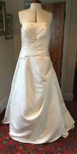 Unbranded Satin Plus Size Strapless Wedding Dresses
