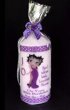 Cellini Candles Betty Boop Purple Dress Birthday Candle Gift  Any Age