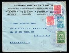 Brazil - 1930 Commercial Airmail Cover to Recife, Pernambuco