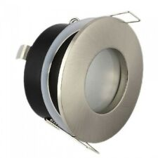 GU10 Satin Frosted IP44 Bathroom Waterproof Recessed Ceiling Spotlight Downlight