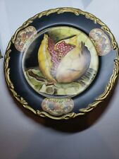Raymond Waites For Toyo Decorative Black Painted Fruit Motif ~ Pomegranate