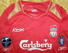 "Gerrard 8 Champions League Winners 2005 - 2006 Liverpool European shirt size ""L"""