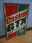 Large Castrol GTX Metal sign Petrol Motor oil Man cave bar Garage