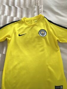 Boys Manchester City Yellow Training Top, Age 8-10 Years