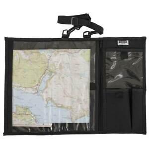 HIGHLANDER EXPLORER MAP CASE BLACK Outdoor Hiking Water Resistant Holder Cover