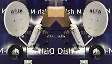 2 x ALFA WiFi DISH 22dBi Antn + N2S PoE Cat5e Outdoor Bridge SHARE YOUR INTERNET