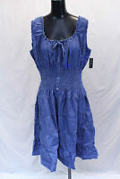 Love By Chesley Women's Sleeveless Chambray Peasant Dress SV3 Blue 3X NWT