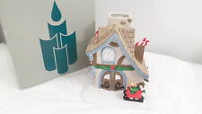 Vintage Partylite Santa's Workshop P0269 Ceramic Candle Village House
