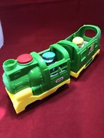 Fisher Price Little People Green Train Sounds Lights with 2 People