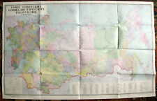 Vintage Original Soviet Wall Map of USSR – 1981