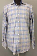 ENGLISH LAUNDRY Blue Black Gray Plaid Button Up Dress Shirt Sz 16 34 35 EE5518