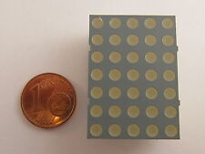 """30mm (1,2"""") 5x7 Dot Matrix Display Kingbright TA12-22YWA, gelb, gem. Anode"""