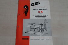 161034) Rabewerk Anbau Drehpflug - 3 D - Prospekt 03/1953