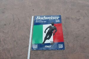BUDWEISER OFFICIAL BEER WORLD CUP USA 1994 ITALY 24 X 18  METAL SIGN