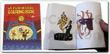 MAGIC COLOURING BOOK CHILD CLOWN TRICK SMALL 3 WAY POCKET PAINTING COLOUR PAINT