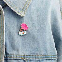 Alloy Phonograph Denim Jacket Collar Pin Fashion Jewelry Enamel Brooch Badge