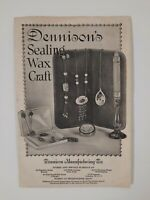 DENNISON'S SEALING WAX 1924 brochure FRAMINGHAM MA antique ART SUPPLY