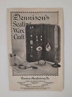 DENNISON'S SEALING WAX 1924 brochure FRAMINGHAM MA antique ART SUPPLY