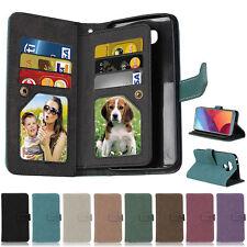 Matte Photo 9 Wallet Leather Flip Case Cover For LG K3 K4 K8 K10 2017 G5 G6 Q6