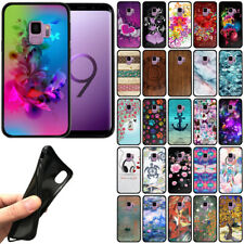 "For Samsung Galaxy S9 5.8"" Flexible TPU Black Silicone Soft Gel Skin Cover Case"