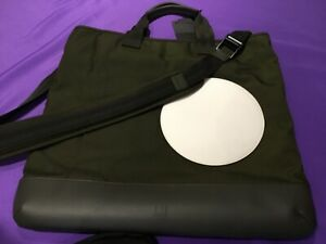 NEW DUNHILL OLIVE RADIAL MEN TOTE BAG.  LEATHER AND CANVAS