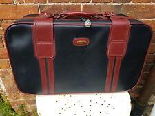 Vintage Vinyl Stowaway Black & Brown Travel SuitCase