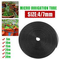 5/10/15/20/25/30m 4/7mm Tube Watering Irrigation Dripper System Micro PVC Hos
