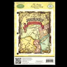 JustRite Cling The Journey Background Stamp CL-04520
