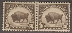 US Stamps - Mint Scott #569 Pair 30c Buffalo VF-XF OG NH CV $150.00
