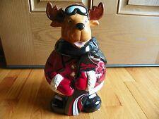 "Moose Mrs. Fields  Snowboard Cookie Jar 12"""
