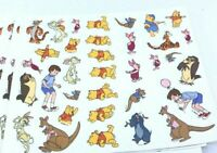 Lot of 10 Vintage Disney Winnie the Pooh Sticker Sheets